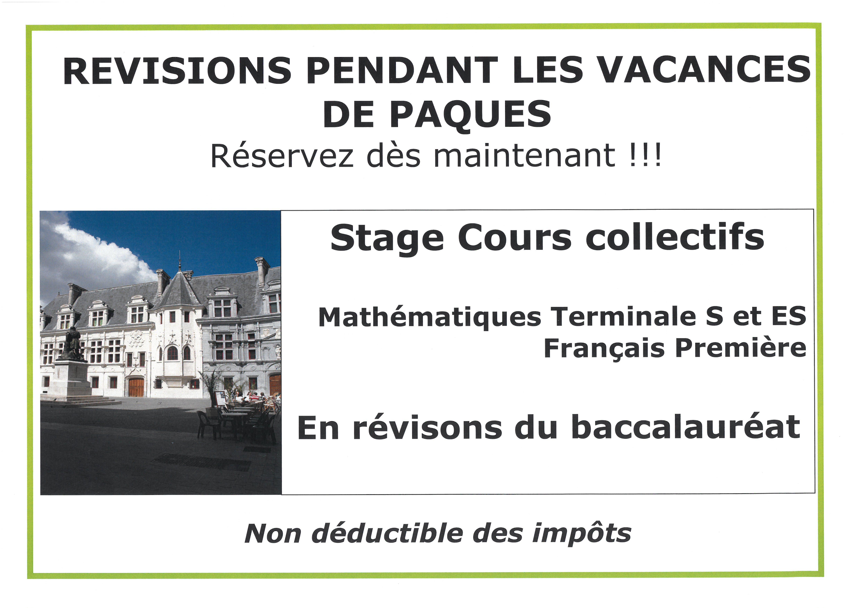 stage en cours collectifs, mathématiques et français
